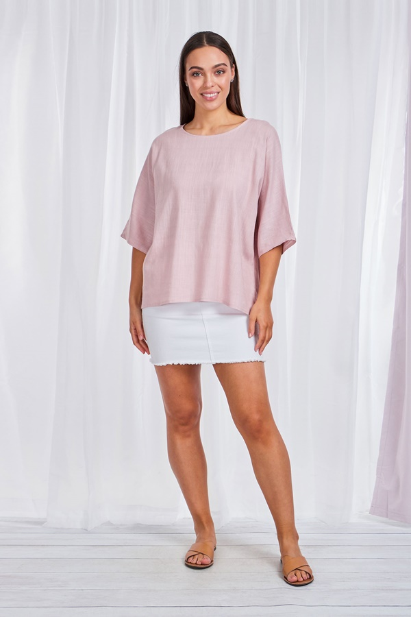 3/4 Dolman Sleeves linen top