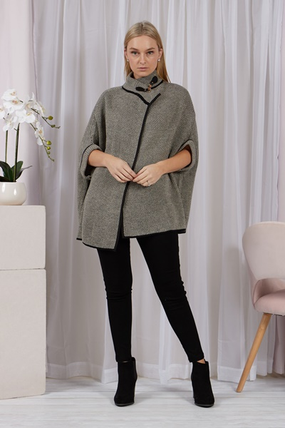 Toggle Neck Poncho cardigan