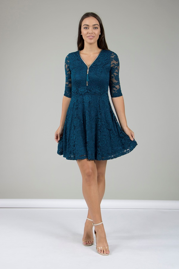 Zip Front Lace dress