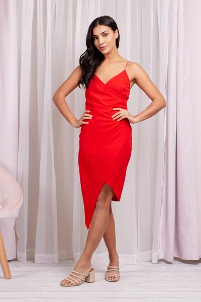 Cami Wrap Midi Dress