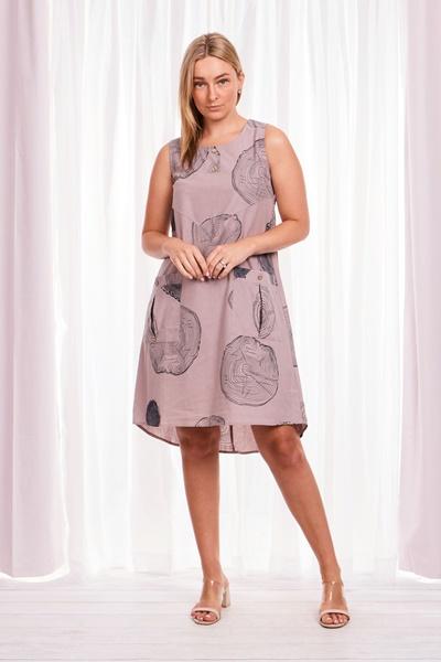 Abstract Print Tunic Dress