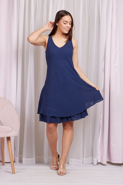 SOLID LAYERED DRESS