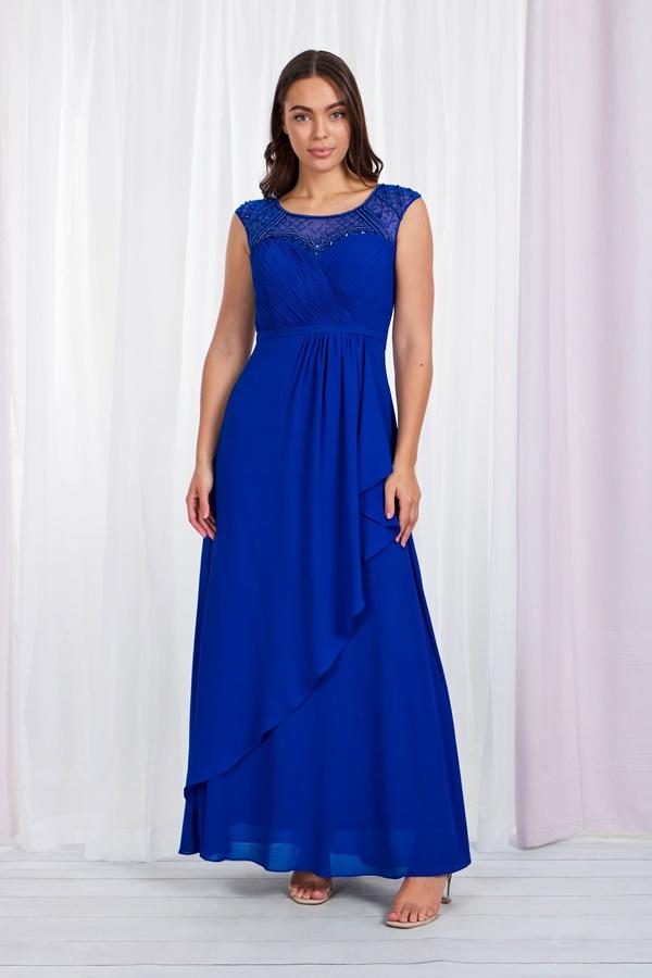 EMBELLISHED EMPIRE WAIST MAXI DRESS