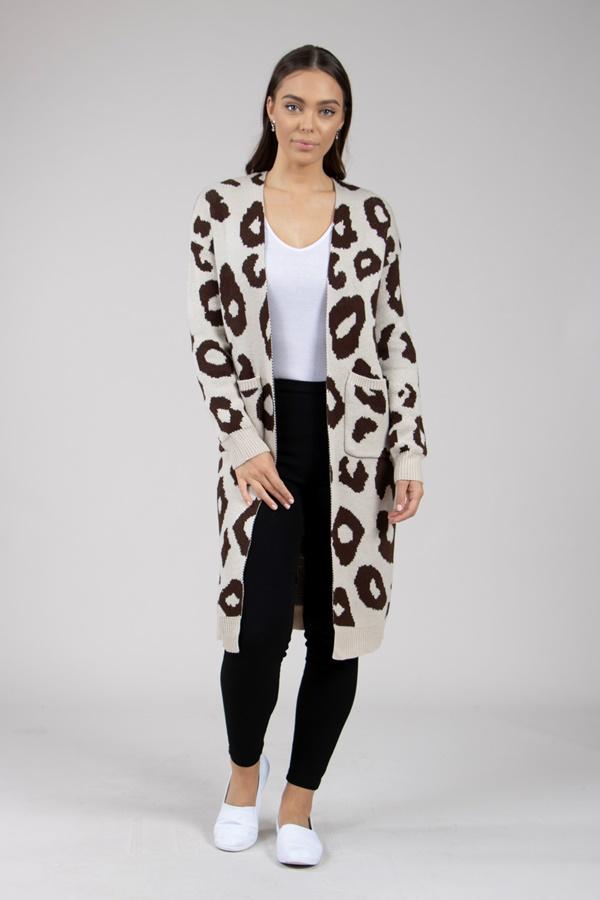 Long sleeve front pocket knit cardigan