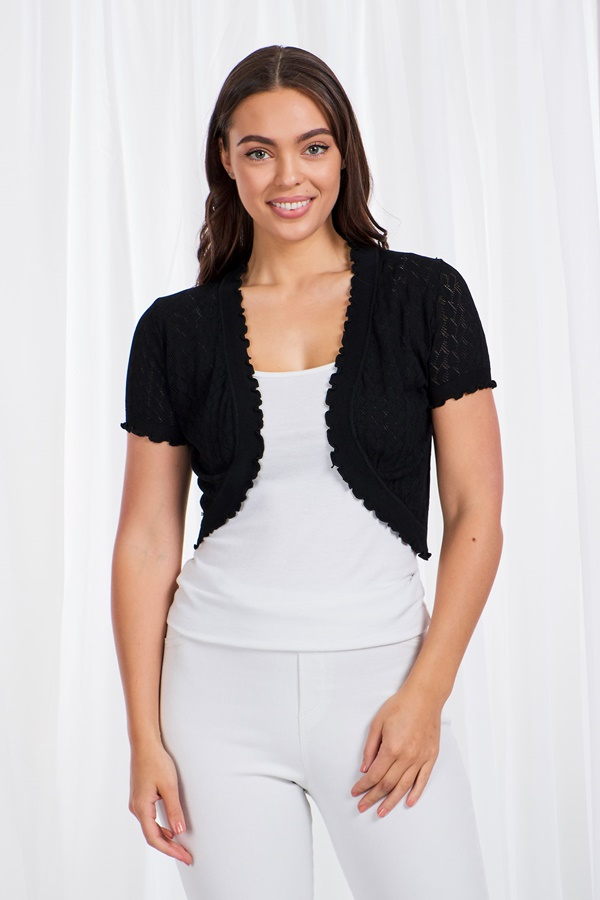 Cropped Knitted Bolero