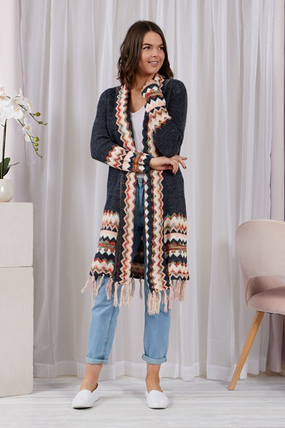 LONG TASSEL CARDIGAN