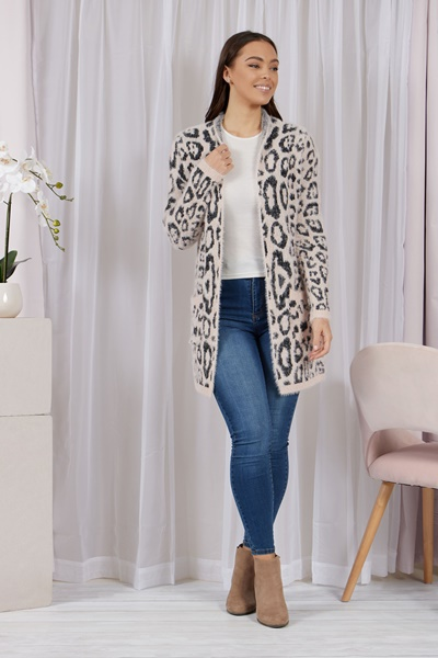Leopard Cardi with pockets