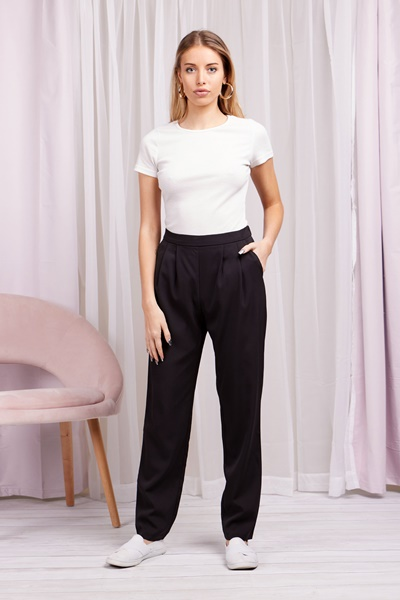 Pleated front trousers