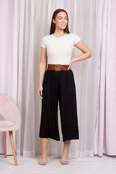 CROP PLEATED TROUSERS