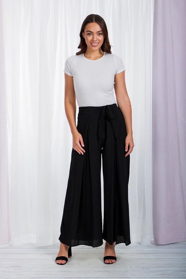 Long front pleat pants
