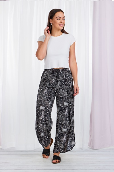 Leopard crossover pants