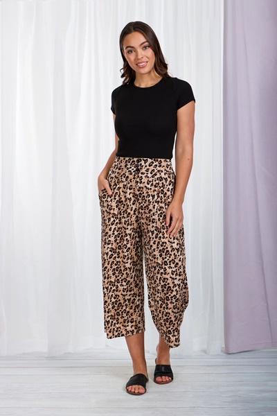 Animal print crop pants