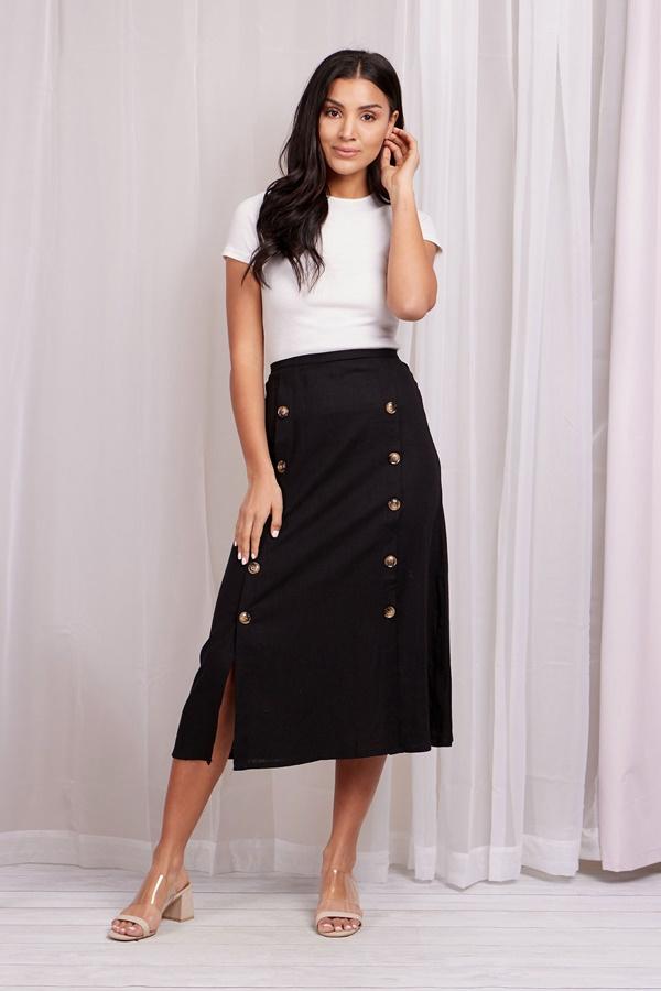 Linen Utility Skirt