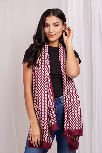 Light weight printed scarf