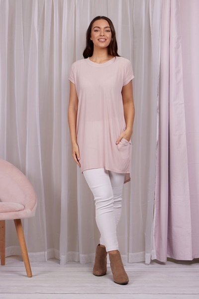 Self rib basic tunic