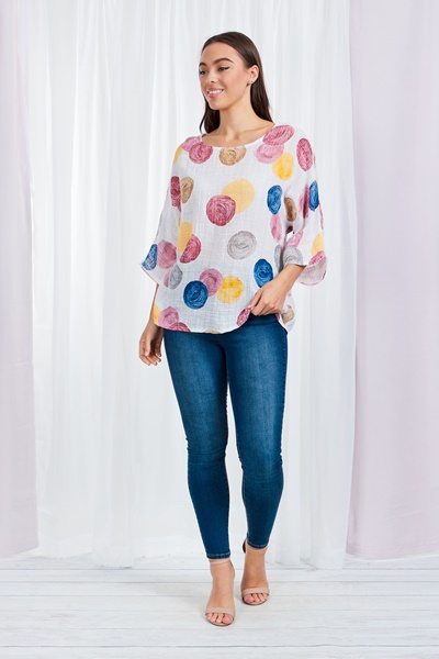 COLOURFUL DOTTY TOP