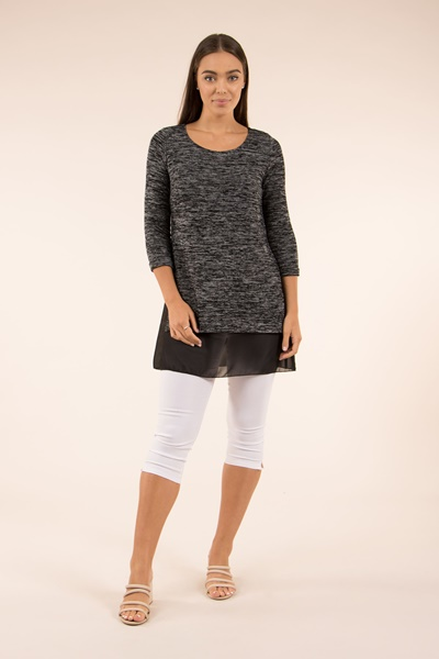 double layer top with side splits