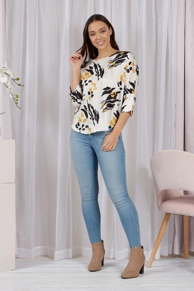 Dolman Sleeve Printed blouse