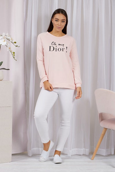 OH MY DIOR Slogan Sweater
