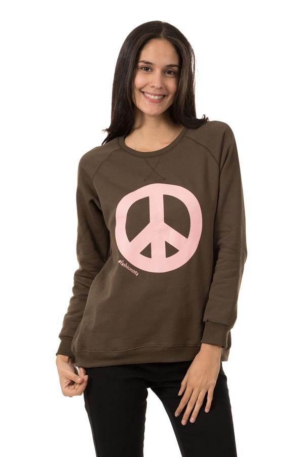 Peace Sign Sweat Top