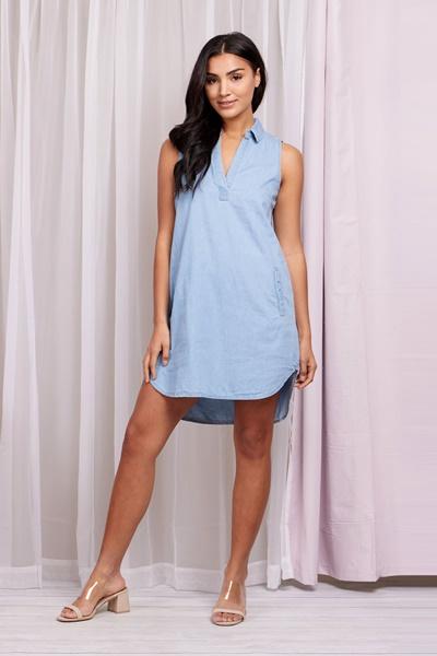 A-line Denim Dress