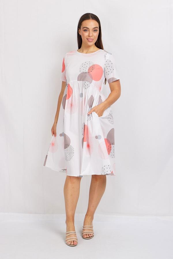 Abstract Circle Smock Dress