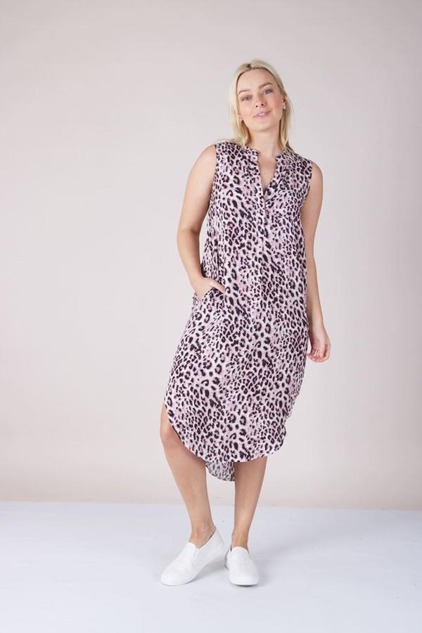 ANIMAL PRINT TUNIC DRESS