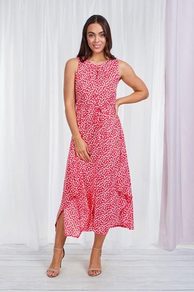 ASYMMETRICAL FLORAL PRINT DRESS