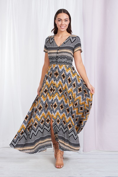 Aztec PRINT BOHO DRESS