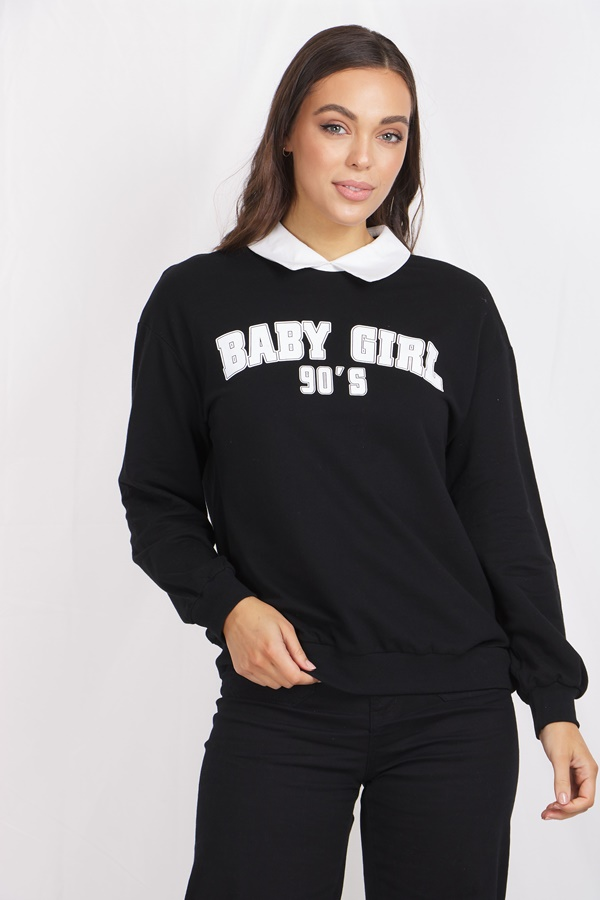 BABY DOLL SWEAT TOP