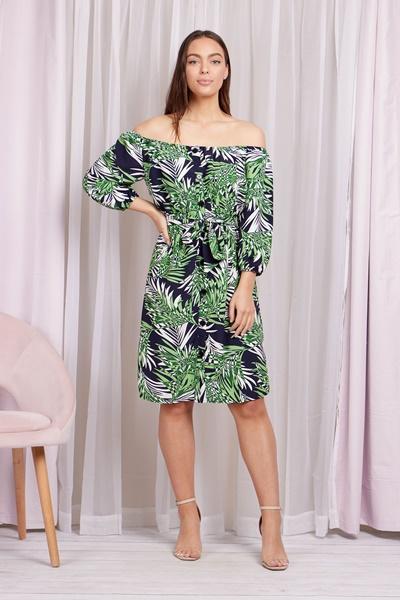 Bardot botanical dress