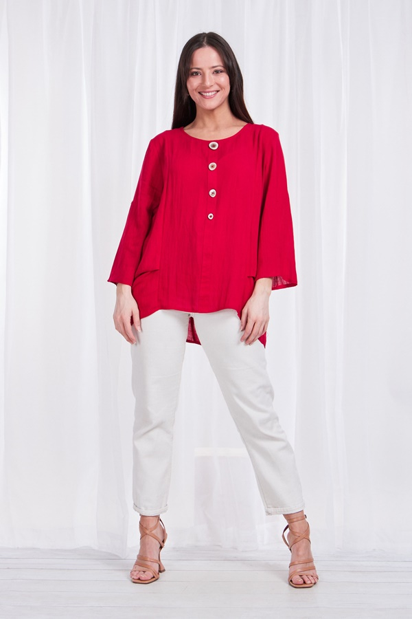 Button detail blouse