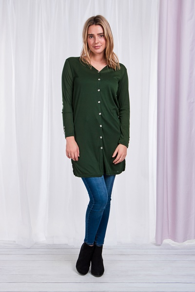 Button front Longline cardigan