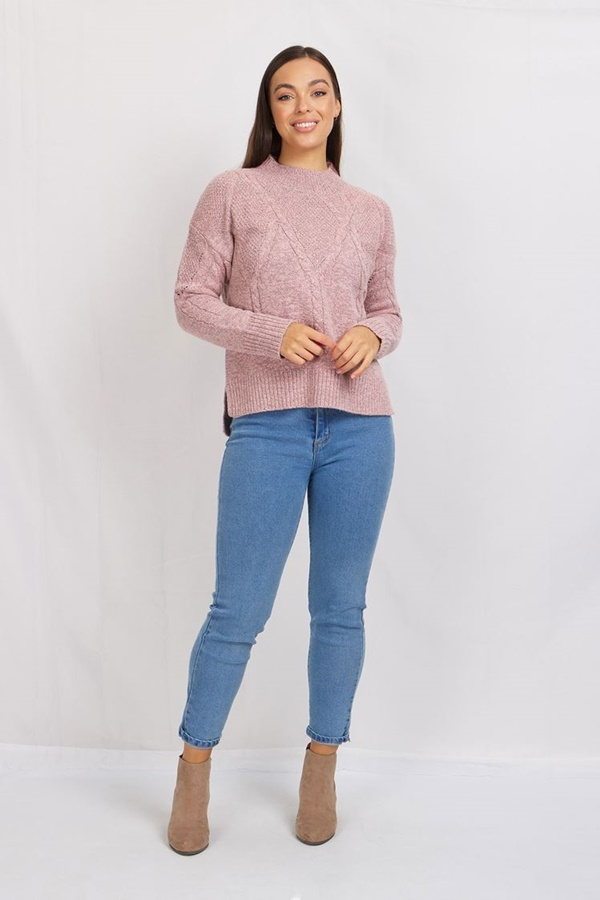 Cable Knit Detail Pullover