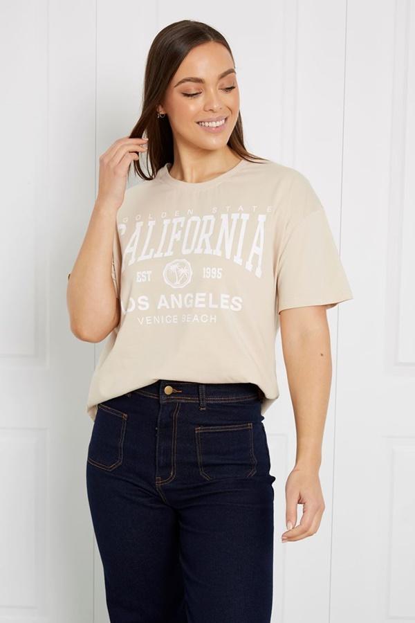 CALIFORNIA SLOGAN TOP
