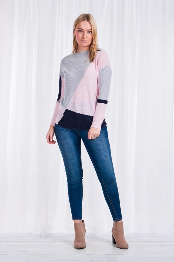 Colour block knit Jumper