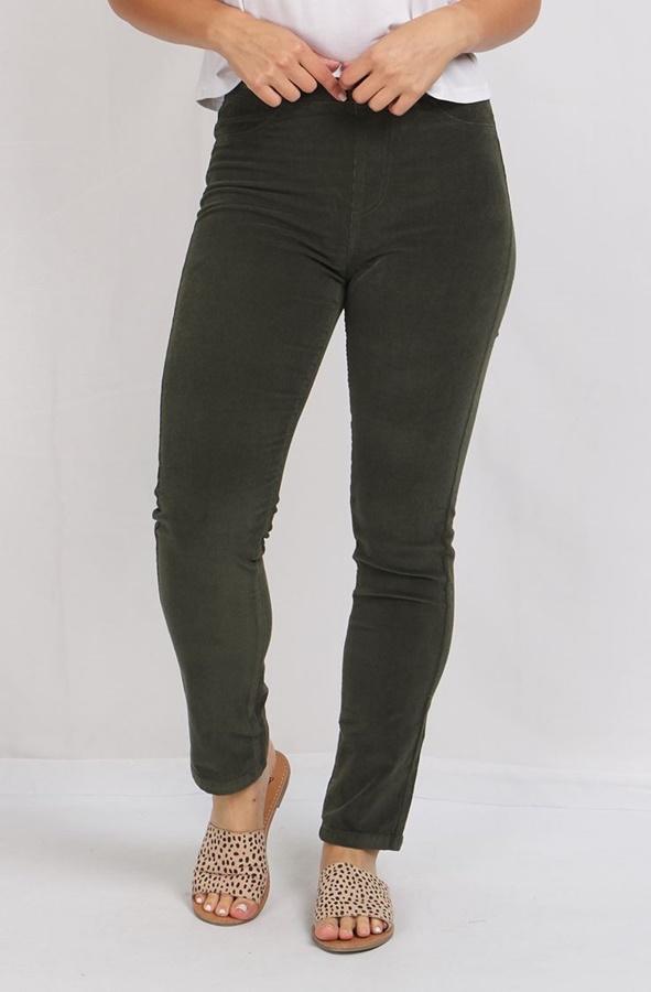 CORDUROY STRAIGHT LEG PANTS
