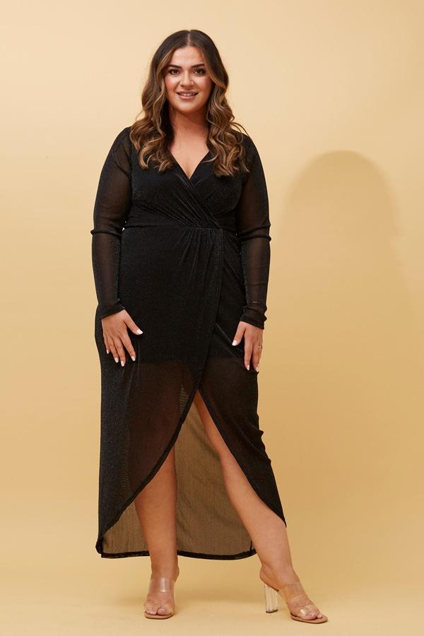 CROSSOVER GLITTER DRESS