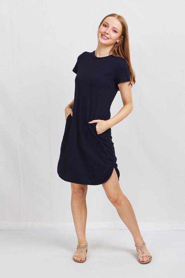 Curved Hem T-shirt Dress