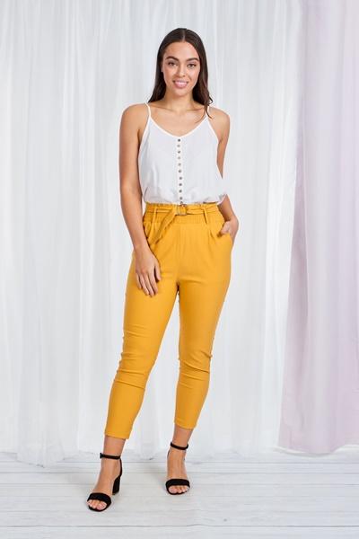 D-Belt Skinny Trousers