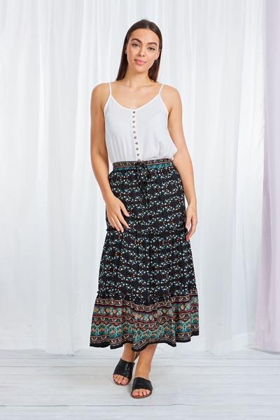 Ditsy Floral Boho Skirt