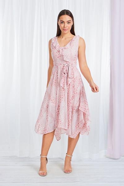 Ditsy Floral Hanky Hem Dress
