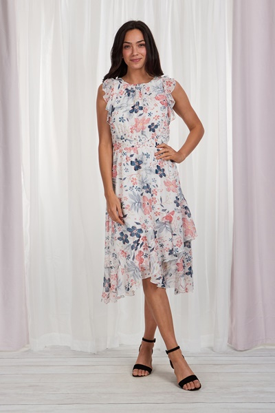Ditsy Floral Ruffled Dress