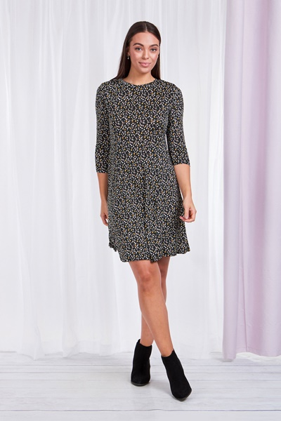Ditzy Print Dress