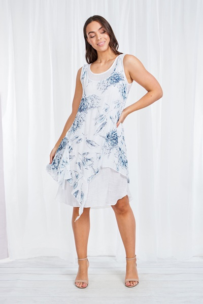 DOUBLE LAYER FLORAL DRESS