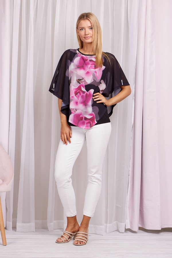 Double Layer Floral Top