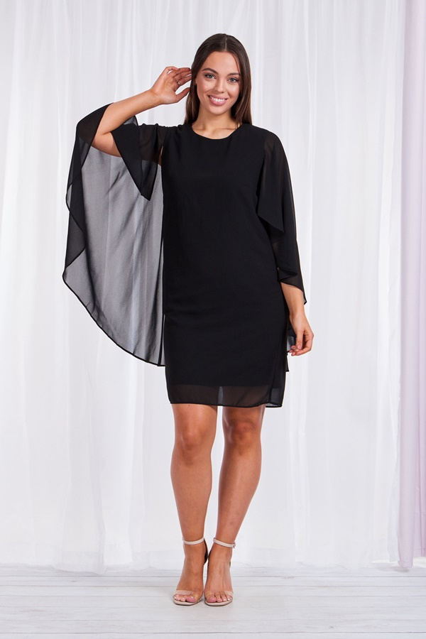 FLARED SLEEVE PARTY DRESS
