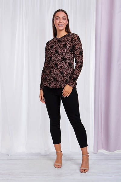flocking Fit and Flare Top