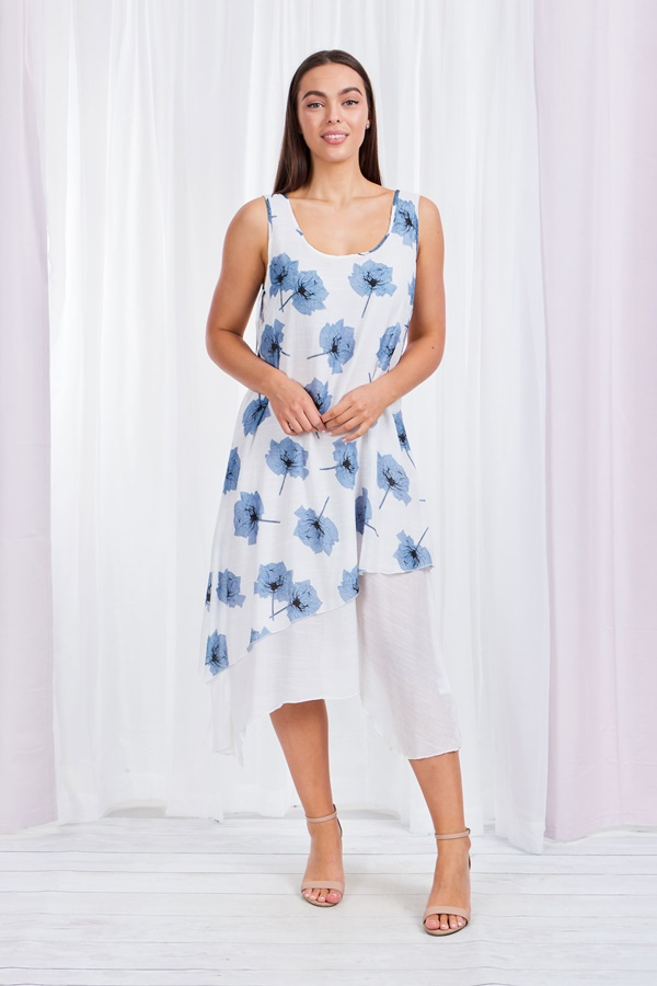 Floral Double Layer Dress