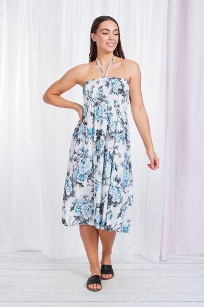 Floral Halter-neck Dress